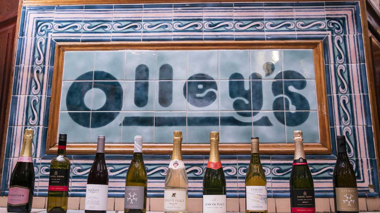 ollys fish chip shop english wine list Herne Hill London