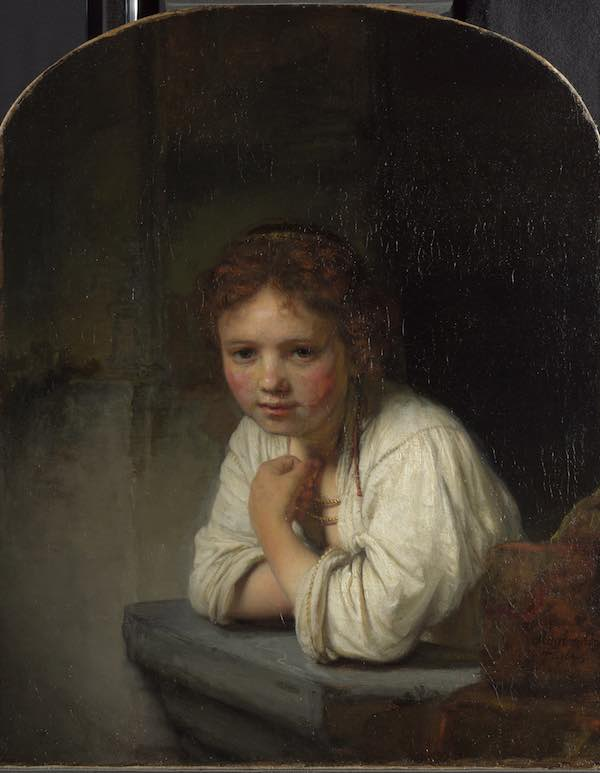 Girl at a Window rembrandt