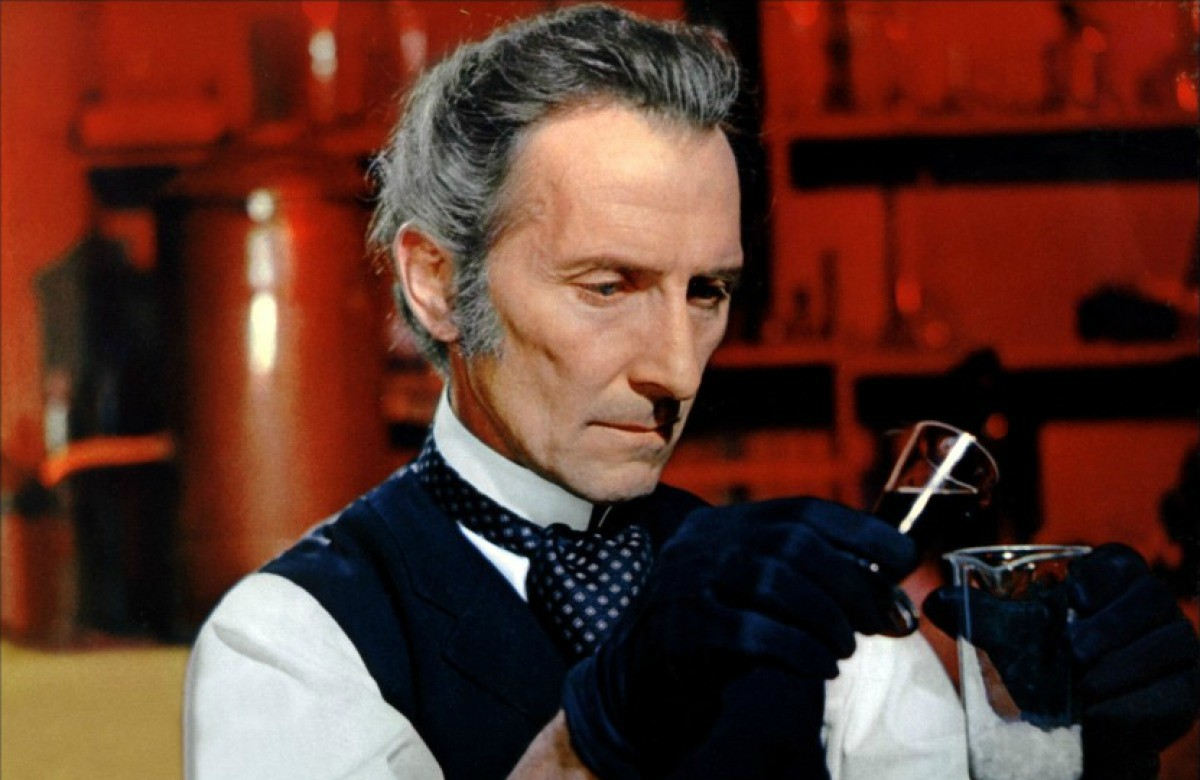 Peter Cushing in Frankenstein Created Woman