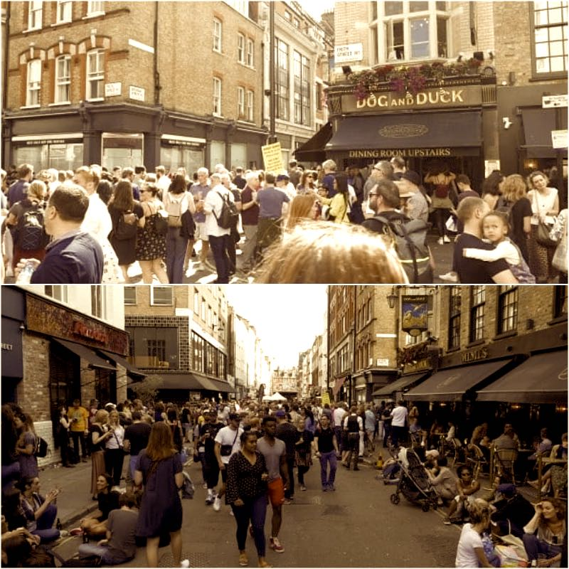 The way We Were - Street Party Soho London